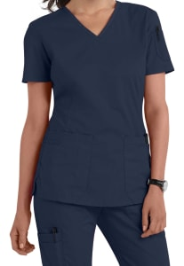 Landau For Women Prewashed 2 Pocket V-Neck Scrub Top
