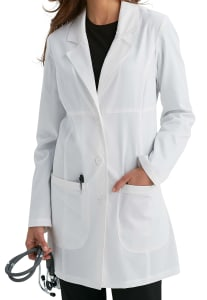 Chic 33 Inch 3 Button Lab Coat