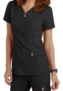 Zip Neck Antimicrobial Top