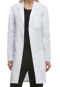 37 Inch Antimicrobial Notched Lapel Lab Coat