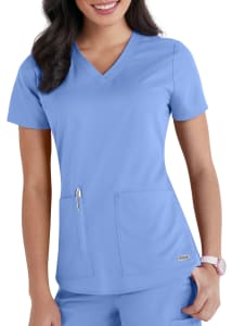 Grey's Anatomy 2 Pocket V-Neck Scrub Top