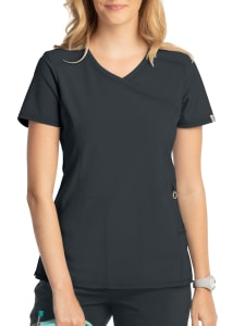 Infinity By Cherokee Mock Wrap Scrub Top With Certainty