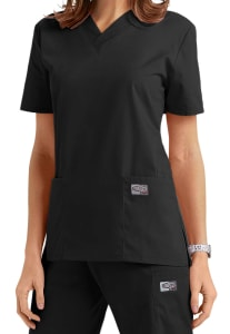 Classic 2 Pocket V-Neck Top