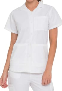 Button Front Student Top