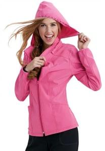 HeartSoul In Da Hood Zip Front Hoodie Scrub Jackets