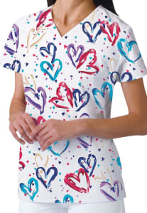 Heartbeat V-Neck Print Top