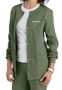 Snap Front Warm Up Jacket