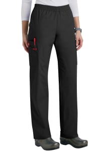 Tapered Leg Elastic Waist Cargo Pants