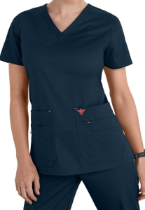 Med Couture Flex-it Knit Insert Scrub Top