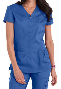 Koi Stretch Mckenzie Zip Neckline Scrub Top