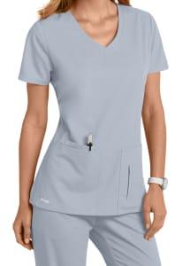 Grey's Anatomy 4 Pocket Crossover V-Neck Scrub Top