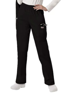 Elastic Waist Cargo Pocket Pants