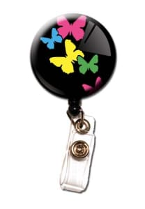 Butterfly Retractable Badge Holder