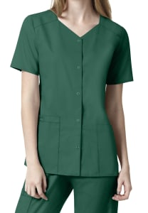 Short Sleeve Snap Front Top