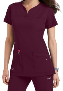 Grey's Anatomy Signature 2 Pocket Notch Neck Scrub Top