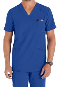 Infinity By Cherokee Men's V-Neck Scrub Top with Certainty