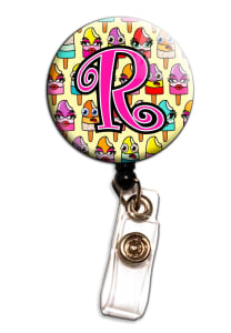 Popsicle Letter Retractable Badge Holders