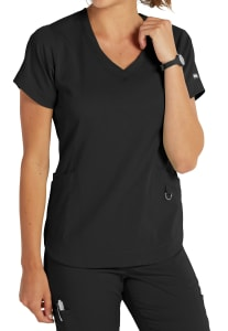 Harmony 3 Pocket Shaped Hem Top