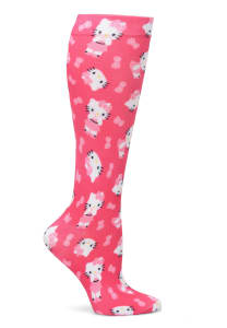Nurse Mates Hello Kitty Print Compression Socks