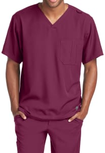 Skechers Men's Structure 1 Pocket V-Neck Scrub Top