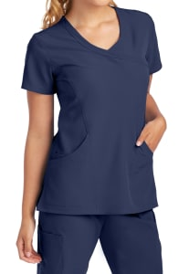 Skechers Reliance 3 Pocket Mock Wrap Scrub Top