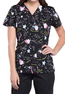 Tooth Fairy Magic V-Neck Print Top
