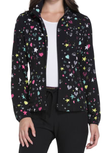 All Star Love Full Zip Warm Up Print Jacket