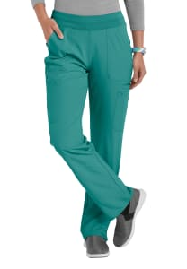 HeartSoul Break Free 5-Pocket Flare Leg Scrub Pants