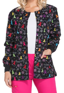 Hopeful Hearts Awareness Ribbon Print Jacket