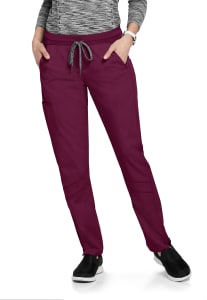 Grey's Anatomy Spandex Stretch 3-Pocket Knit Waist Scrub Pants