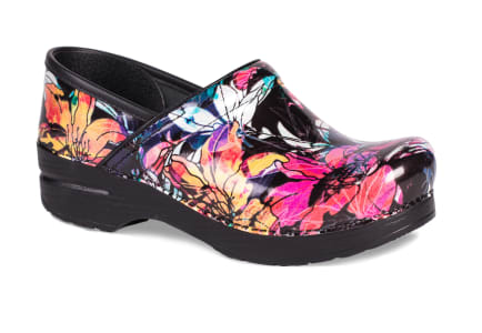 Bright Lilly Patent Clog