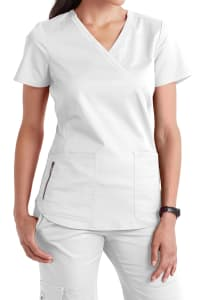 Beyond Scrubs Samantha Mock Wrap Scrub Top