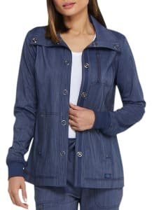 Two Tone Twist Snap Front Jacket