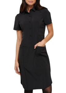 Antimicrobial Button Front Dress