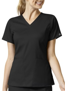4 Pocket Drop Shoulder V-Neck Top