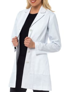 Vivien Herringbone Cotton Lab Coat