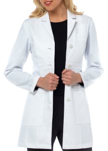Sophia Herringbone Cotton Lab Coat