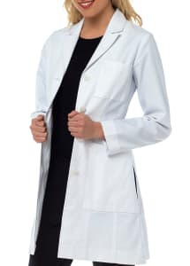 Katherine Herringbone Cotton Lab Coat