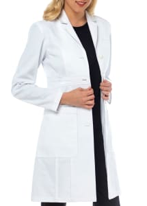 Olivia Herringbone Cotton Lab Coat