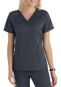 Grey's Anatomy Impact Elite 4 Pocket V-Neck Logo Scrub Top
