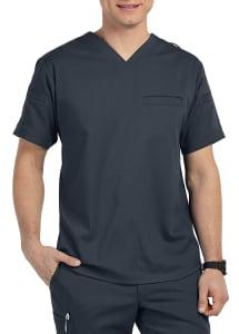 Grey's Anatomy Spandex Stretch Men's Wesley 3 Pocket V-Neck Scrub Top