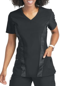Quick Cool Contrast Panel V-Neck Top