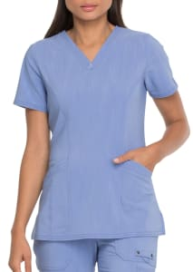 Dickies Advance Solid Tonal Twist 2 Pocket V-Neck Scrub Top