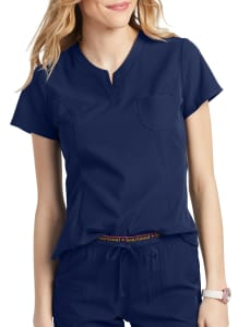 HeartSoul Roxy Henley V-Neck Scrub Top