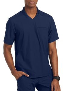 Grey's Anatomy Edge Men's Evolution 3 Pocket Polo Scrub Top