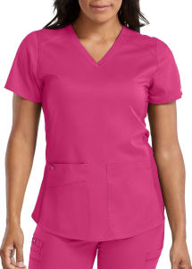 Med Couture Touch Kerri Shirttail Hem Vneck Scrub Top