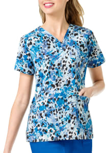 Sweet Paws V-Neck Print Top