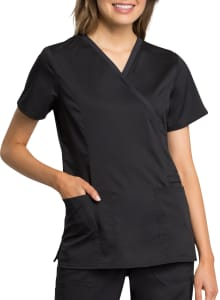 Mock Wrap Antimicrobial Top