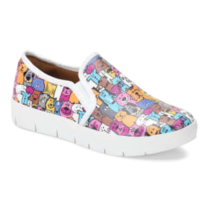 Adela Multi Pets Print Slip On Shoe