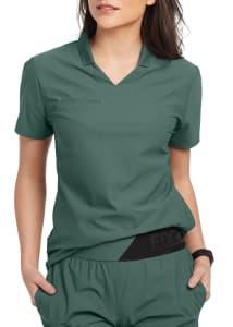 Grey's Anatomy Edge Lyra 3 Pocket Polo Scrub Top